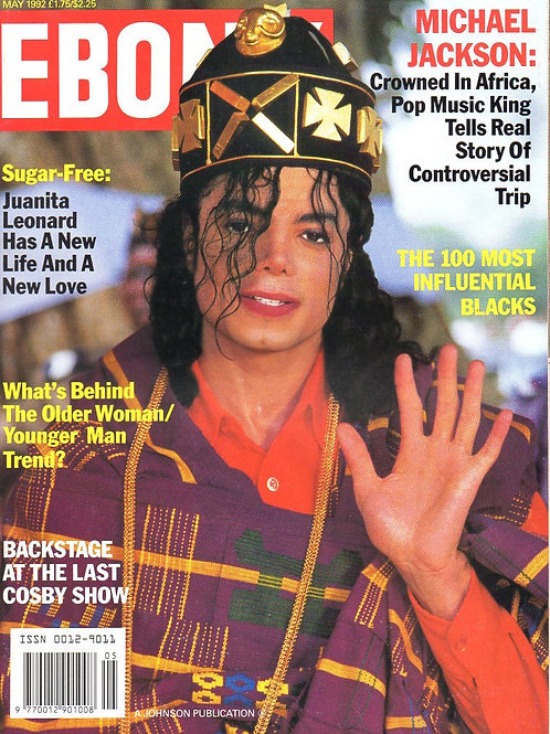 1992 May EBONY MAGAZINE 'Crowned In Africa' Michael Jackson