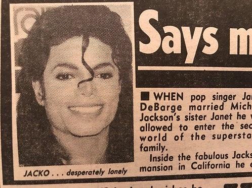 1990 'Naked Jacko Danced In The Rain' Michael Jackson The Sun Article