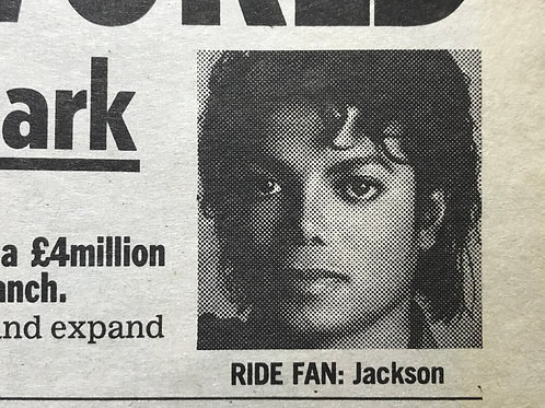 1989 July 'Jacko Borrows £4m' THE PEOPLE Newspaper Article MICHAEL JACKSON