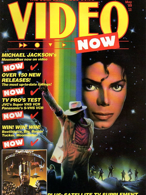 1989 VIDEO NOW Magazine Featuring Michael Jackson UK May