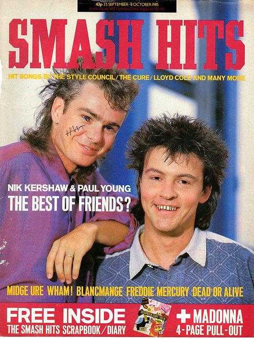 Smash Hits Magazine Volume 7 No. 19 September 1985 Paul Young Nik Kershaw