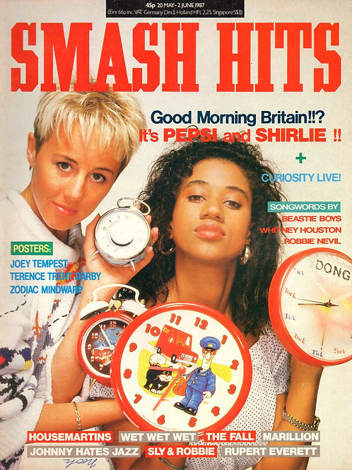 SMASH HITS 20 MAY 1987 PEPSI & SHIRLEY HOUSEMARTINS WET WET WET RUPERT EVERETT