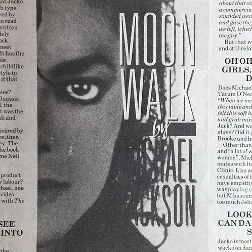 1988 April 30 NME NEW MUSICAL EXPRESS Article MICHAEL JACKSON