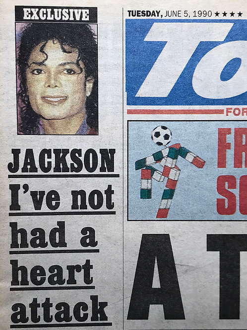 1990 NOT HAD A HEART ATTACK Today UK ENTIRE Newspaper RARE