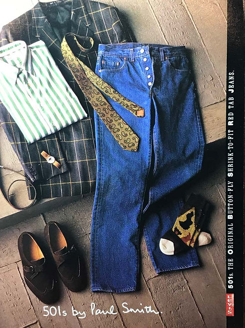 1986 LEVI'S ADVERTISING 501's by PAUL SMITH SMASH HITS  MADONNA GRACE JONES