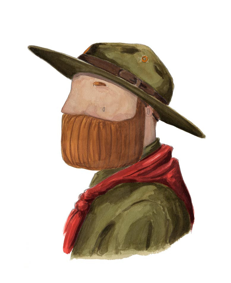Beardy Bear 'Scout' by NAKI