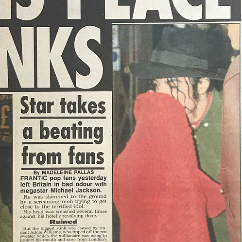 1992 This Place Stinks DAILY STAR MICHAEL JACKSON