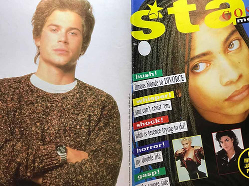 80's STAR GOSSIP MONTHLY Terence Trent D'Arby Michael Jackson Madonna Boy George
