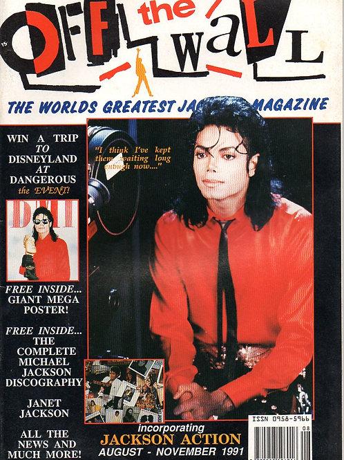 1991 #14 OFF THE WALL OtW Magazine + poster UK MICHAEL JACKSON