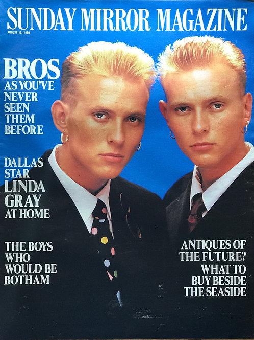 Mat Goss Luke Goss BROS British Pop Band August 1989