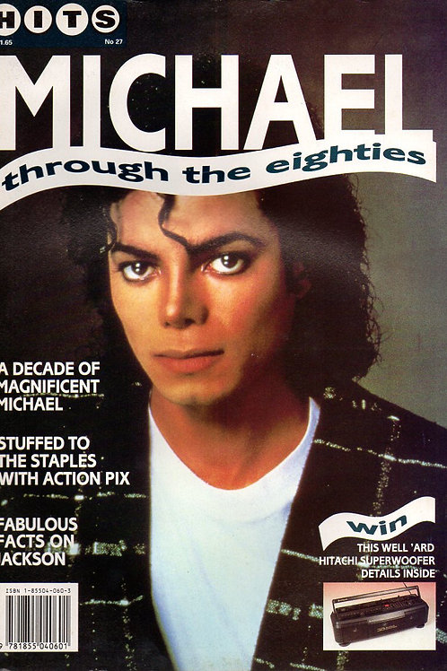 1990 HITS #27 THROUGH THE EIGHTIES Magazine Michael Jackson Excellent Condition