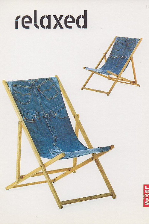 Levi's Promo Postcard 1995 Levi Strauss & Co. 'Relaxed Fit 517'