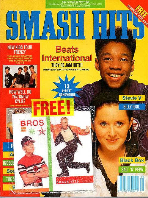 SMASH HITS MAY 1990 BEATS INTERNATIONAL, KYLIE MINOGUE, BLACK BOX, BROS