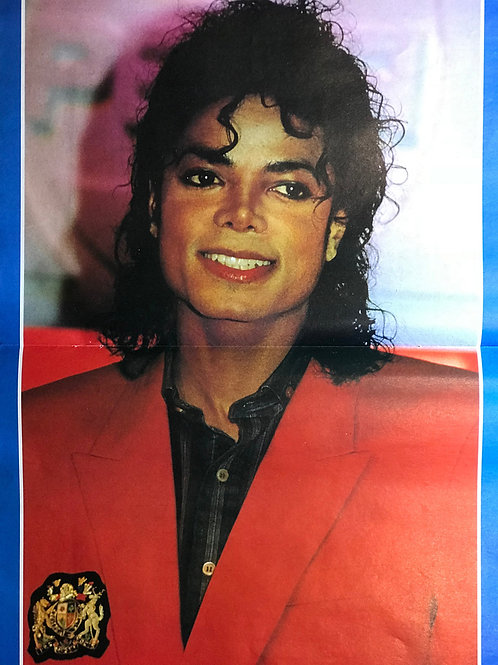 1989 March LOOK IN Magazine Poster MICHAEL JACKSON (UK)