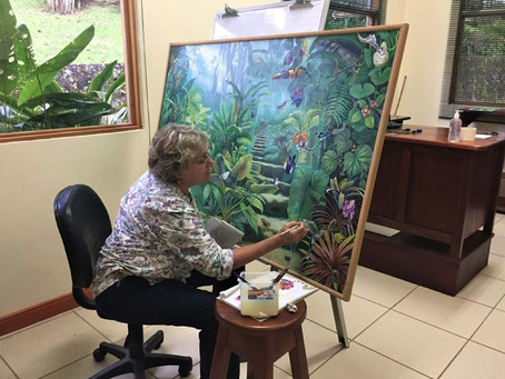 How Deirdre Hyde's Painting Helped Las Cruces Biological Station, Costa Rica