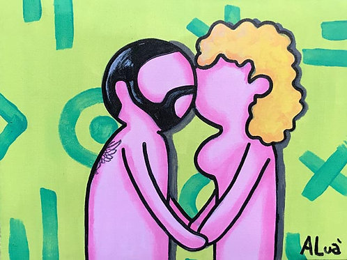 White City Gallery presents 'Love Is Love I' by street artist ALUA. Heterosexuality. Straight. Equality