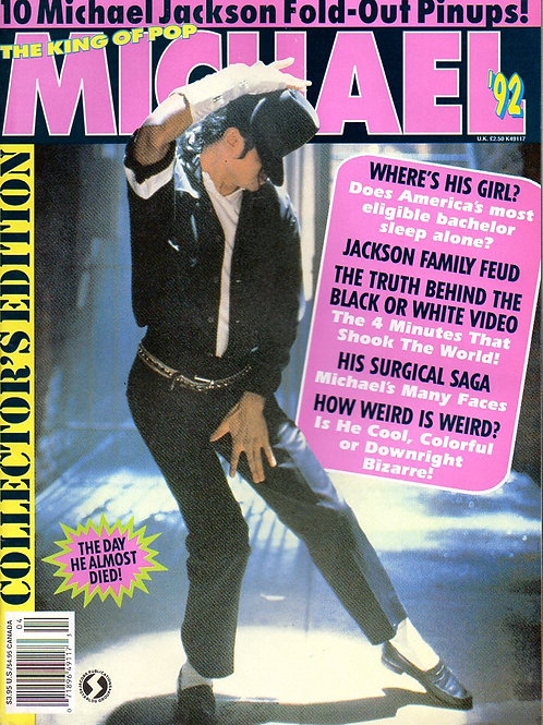 1992 THE KING OF POP MICHAEL JACKSON Collector's Edition Magazine