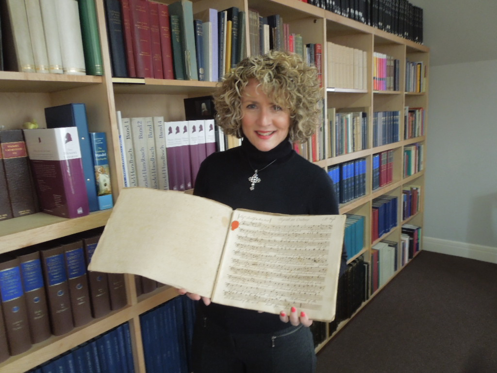 Jenny holds a 1759 copy of Messiah!