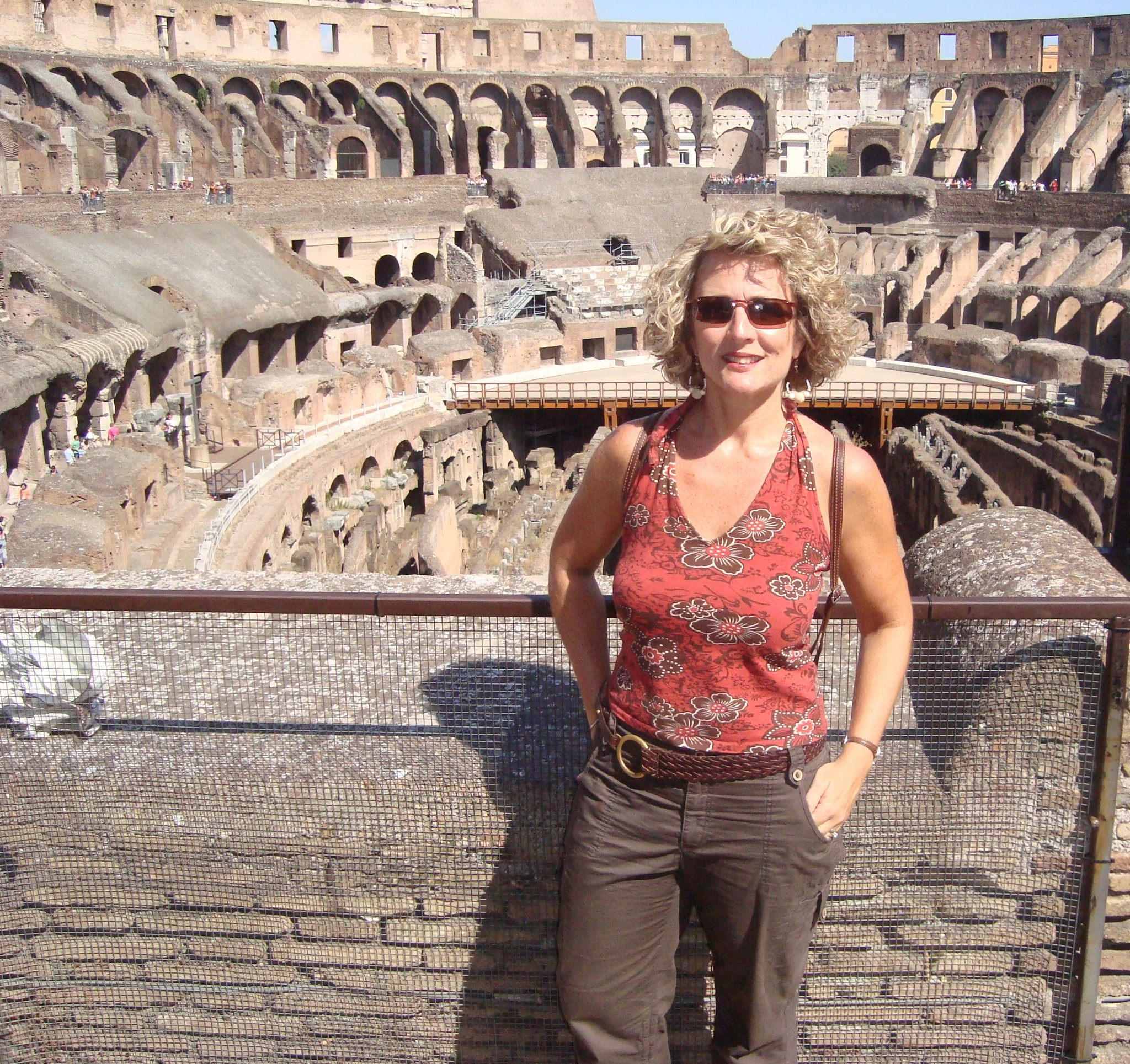 Jenny at the Roman Colosseum