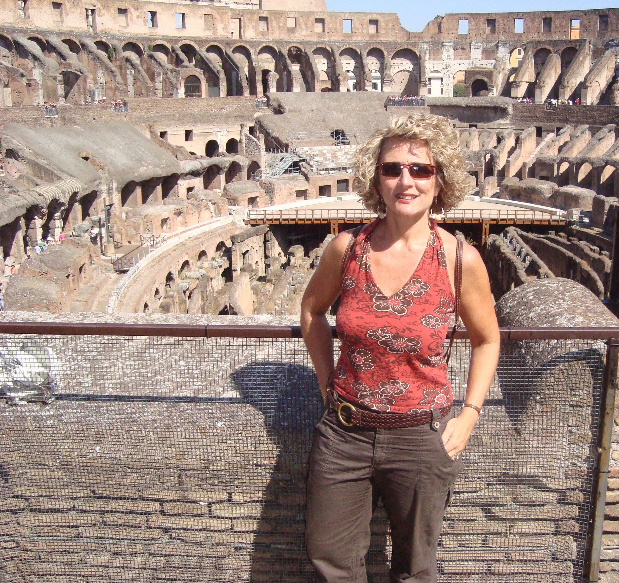 Jenny at the Roman Colosseum