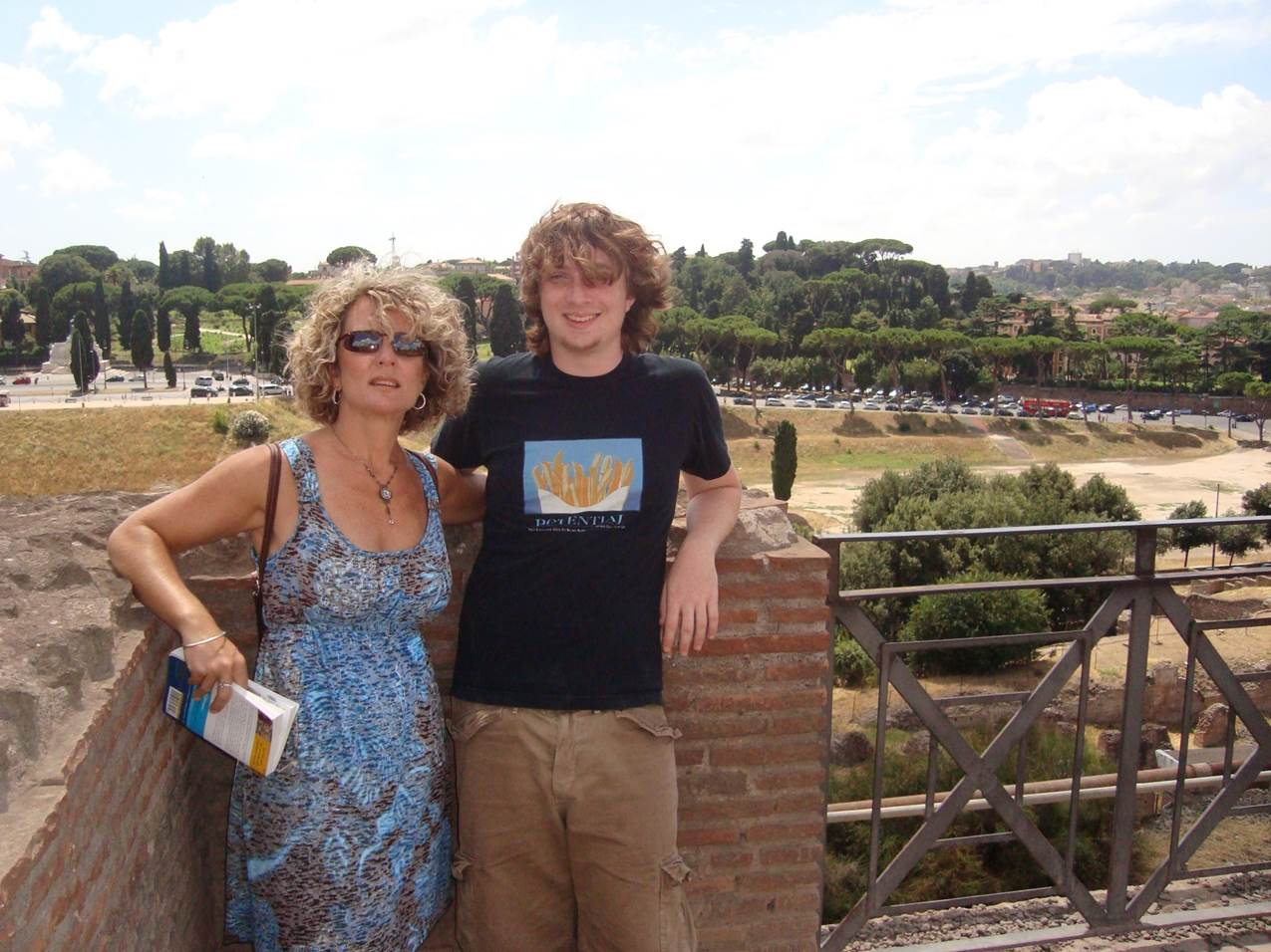 Jenny and Alex at Circus Maximus in Rome