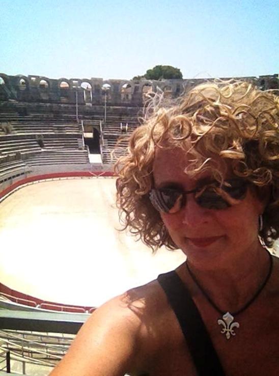 Jenny in the Coliseum in Arles France
