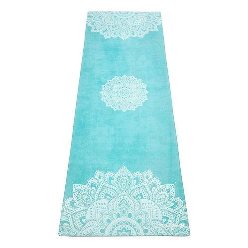 Tapis yoga Mandala Turquoise éco-responsable Yoga Lab Design