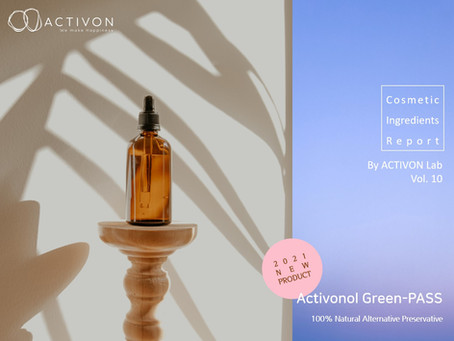 Cosmetic Ingredients Report by ACTIVON Lab. Vol.10