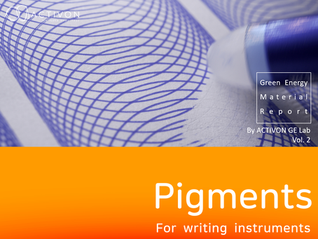 <Pigments for writing instruments> GE Material Report by ACTIVON GE Lab Vol.02