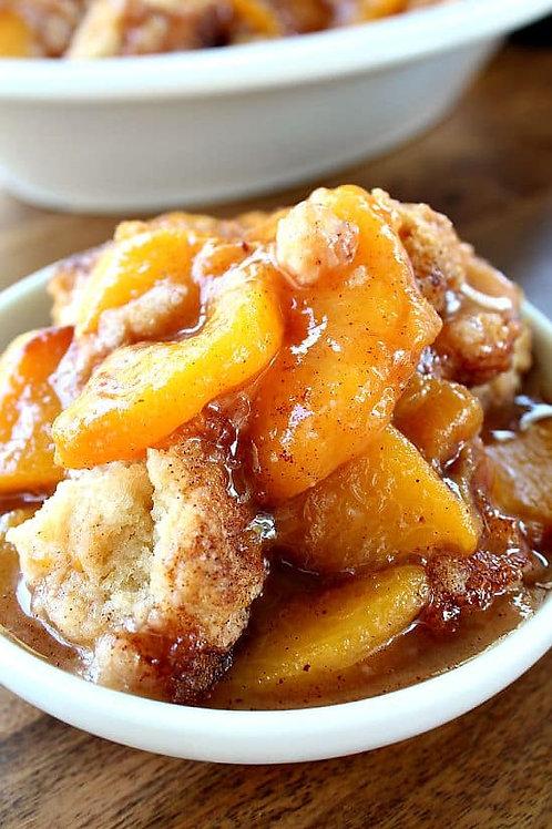 Large Peach Cobbler