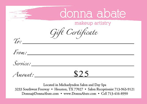 Donna Abate Digital Gift Card $65