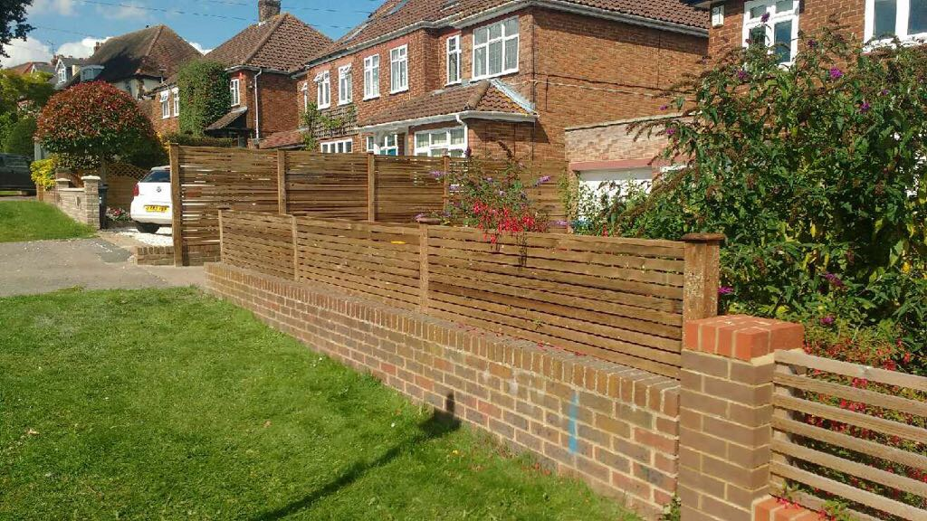 Cedar fencing made from pine