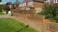Contemporary fencing panels Epping