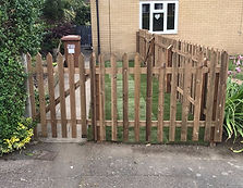 Picket gate installation in Ware Hertfordshire
