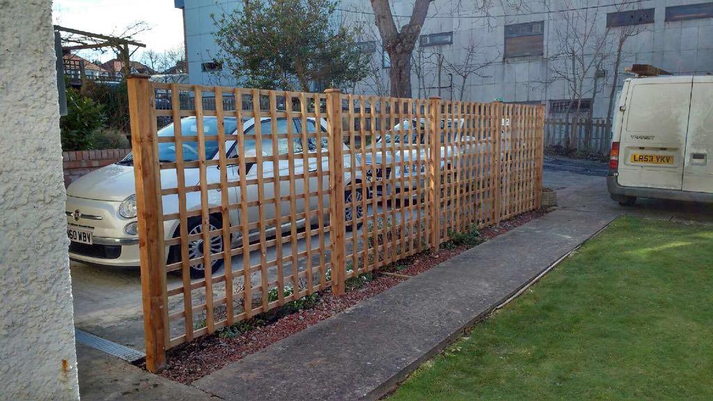 Trellis fencing in Cheshunt