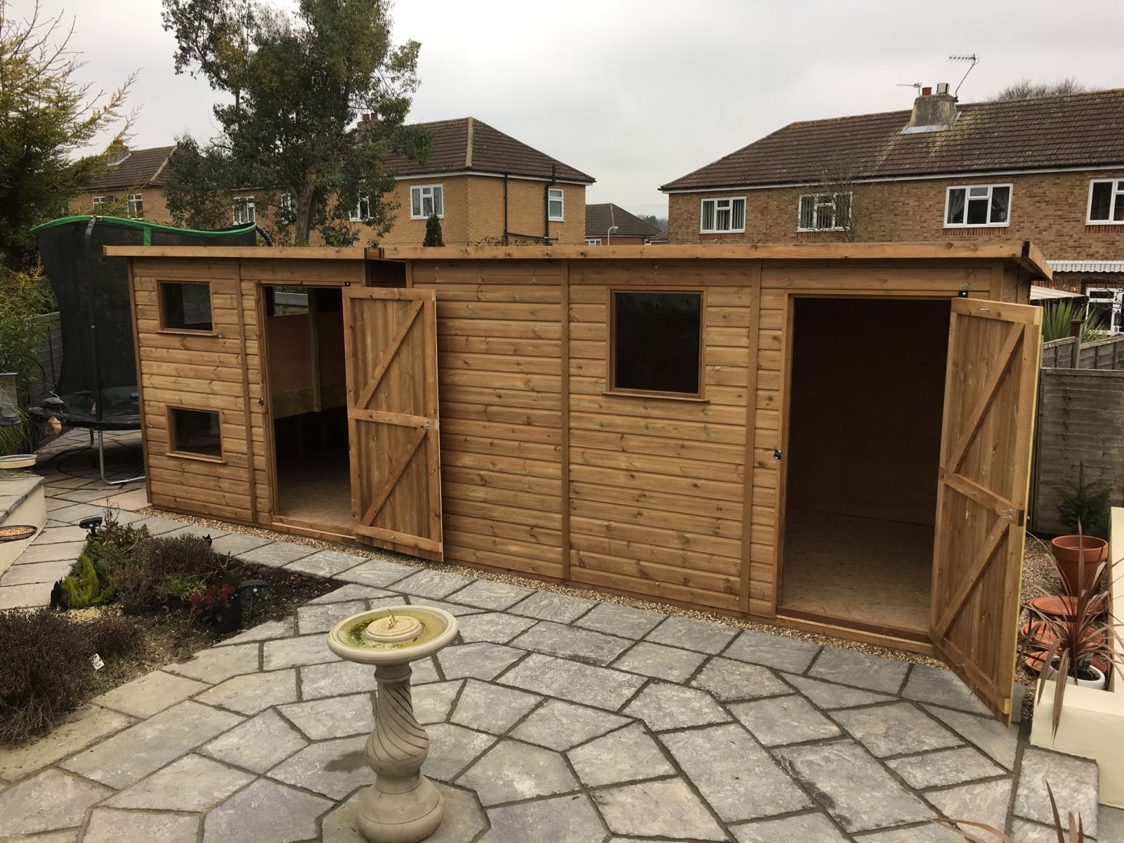 Two made to measure Pent Sheds
