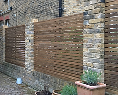 Contemporary slatted fencing supplied in potters bar Herts