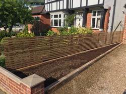 Contemporary Fence Slats Muswell Hil