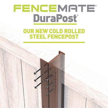 Metal fencing post