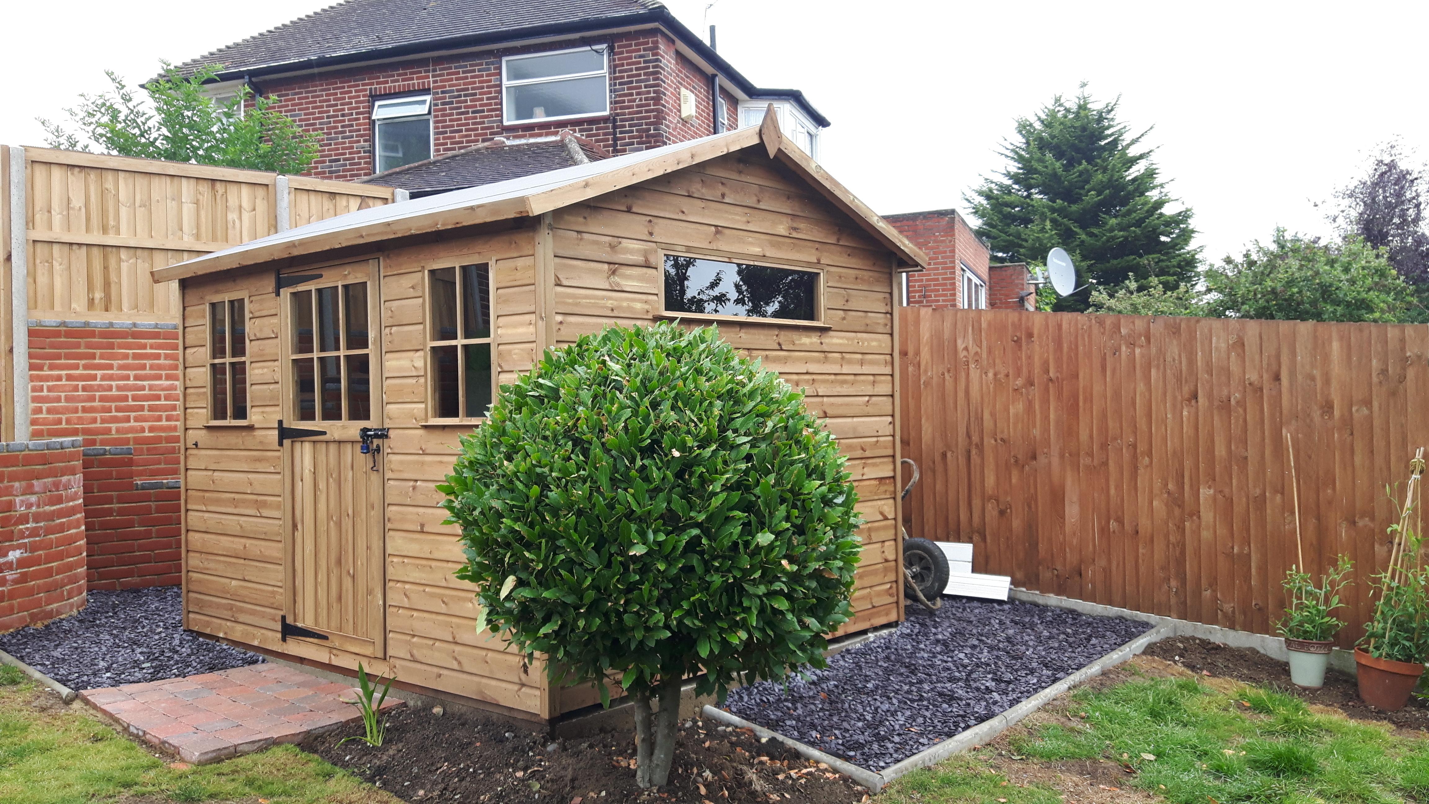 Apex garden shed