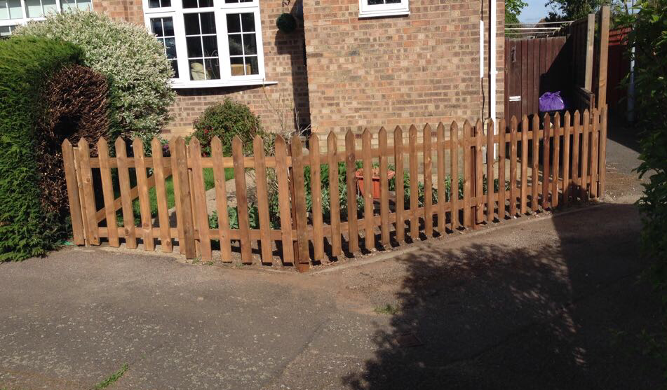 Picket Fencing in an Enfield garden