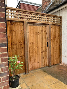 Garden gate with side panels