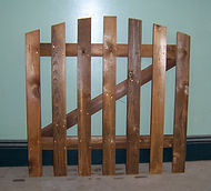 Picket gates made to size with fast a delivery service.