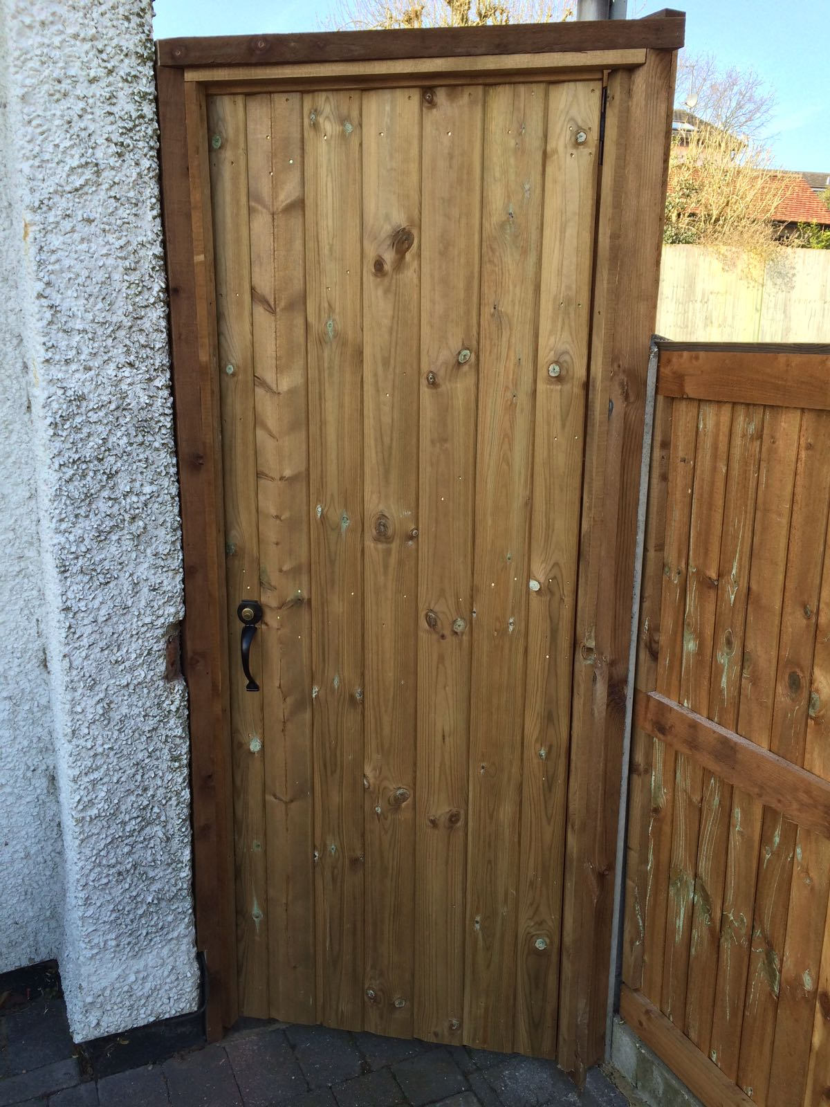 Ledged & braced shiplap gate