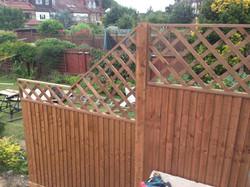 Bespoke lattice garden trellis
