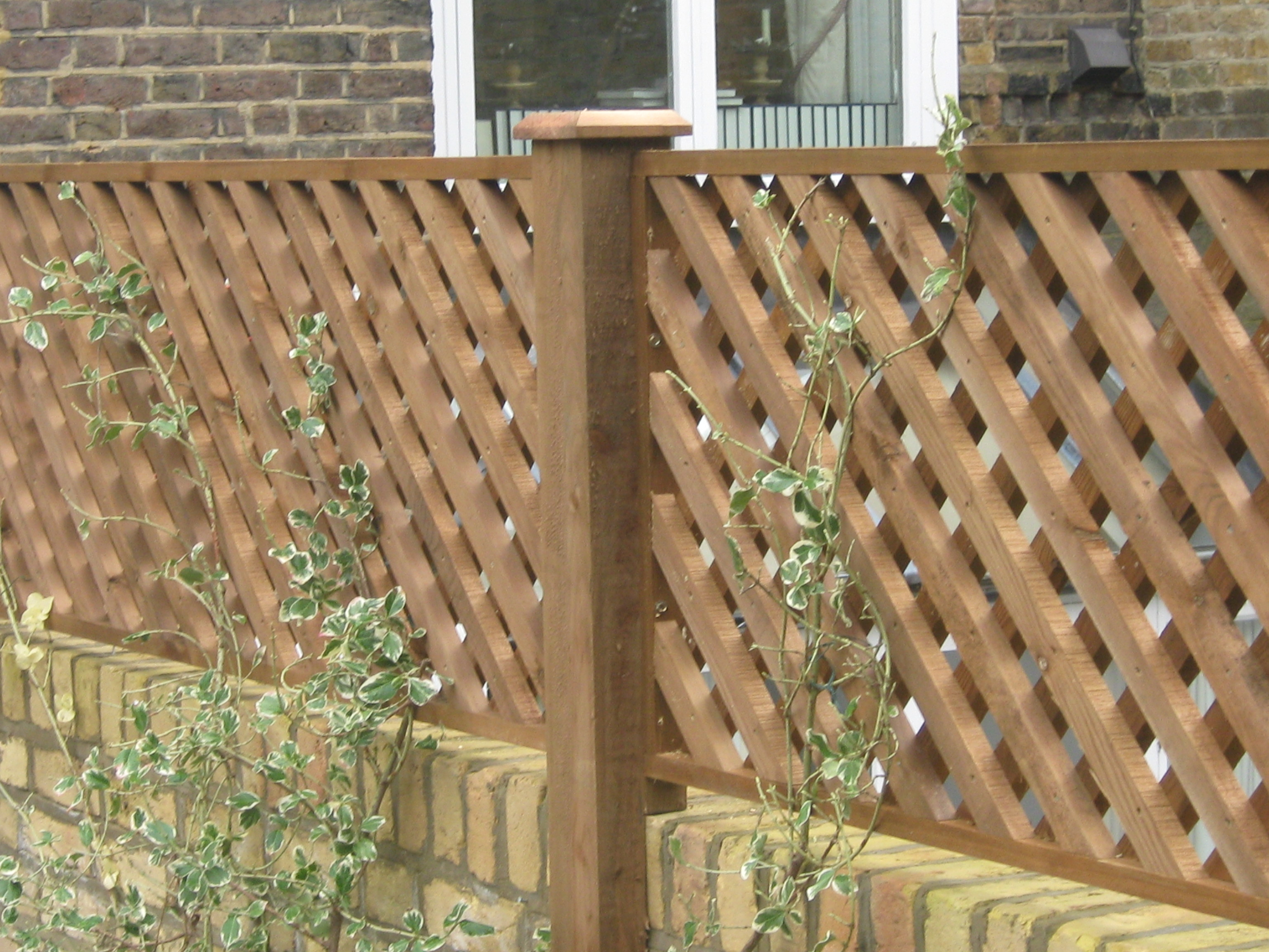Lattice diamond trellis London