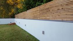 Cheap cedar alternative slats