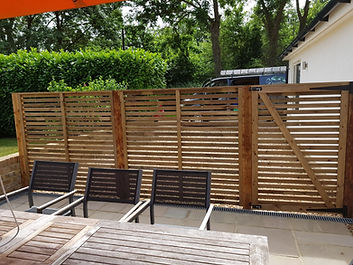 Slatted fencing gates London