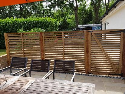 Slatted fencing gates London