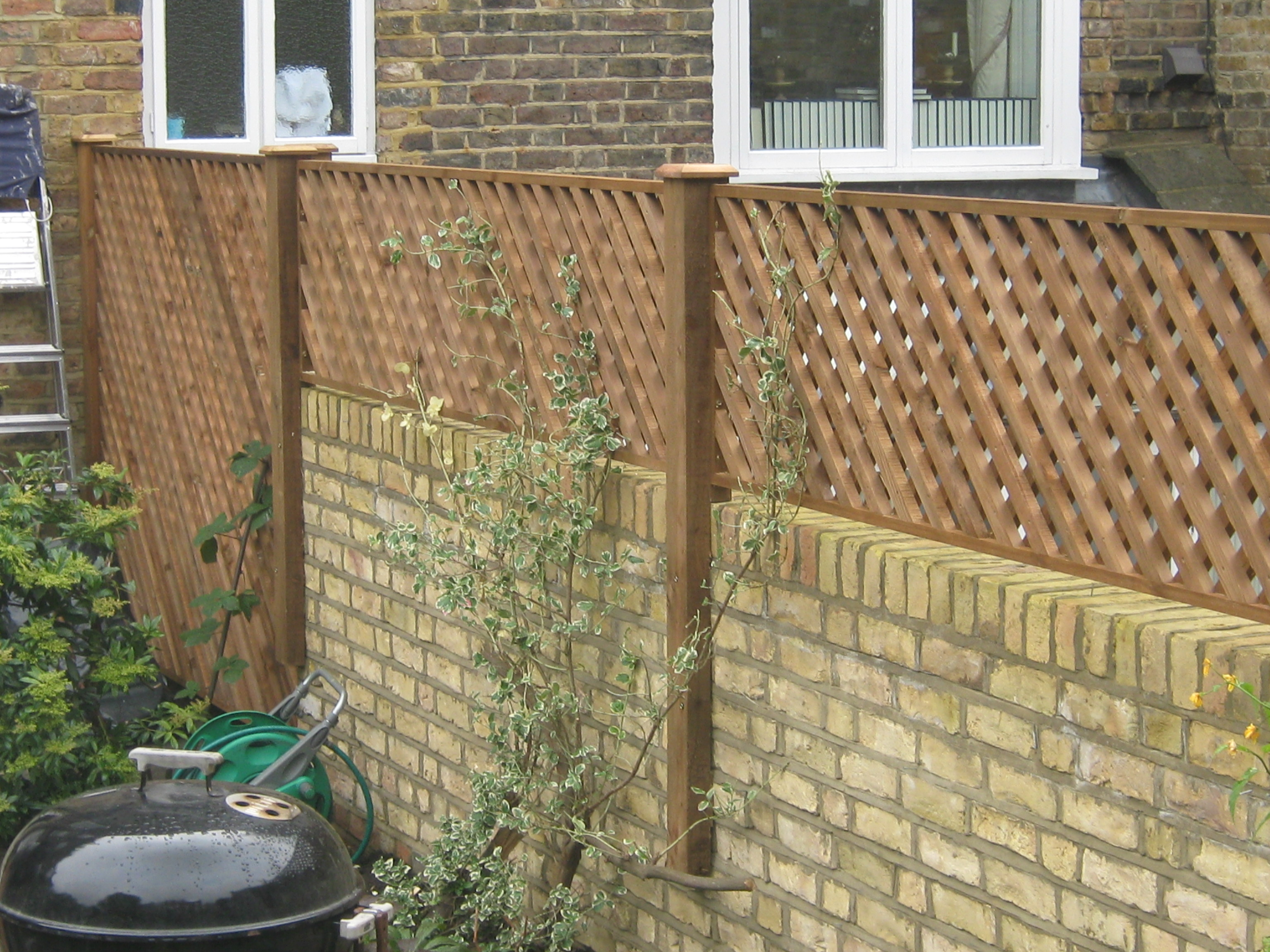 Wall top lattice trellis